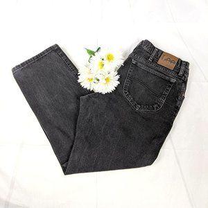 Lee Men's Regular Fit Straight Leg Black Jeans